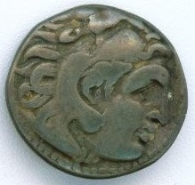 Alexander the great silver drachm-obverse