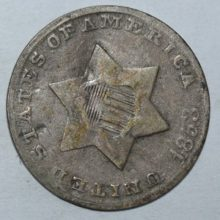 1853 3 cent silver
